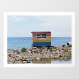 Welcome to Curacao Art Print
