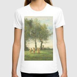 """Jean-Baptiste-Camille Corot """"Ronde D'Amours; Lever du Soleil"""" T-shirt"""
