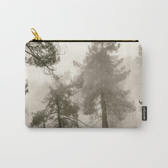 """""""Into the woods"""". Mono. Wandering into the fog. Carry-All Pouch"""