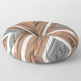 Urban Tribal Pattern No.4 - Wood Floor Pillow
