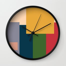 Me And The Boys Meme In Abstract Style Wall Clock