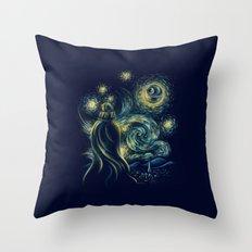 Death Starry Night Throw Pillow