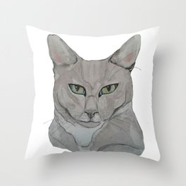 My Cat Carlos Throw Pillow