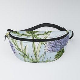 Thistle White Lace Watercolor Fanny Pack