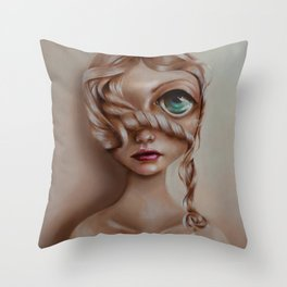 Miss Vanilla Throw Pillow