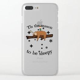 Sloth Late Sleepers Christmas Sleep Sleepy Lazy Clear iPhone Case
