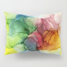 Stormy Spectrum | Abstract Rainbow Painting Pillow Sham