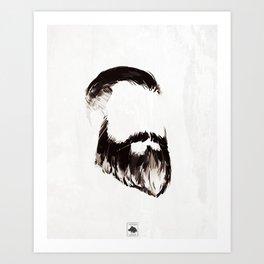 Ceci n'est pas une barbe Art Print