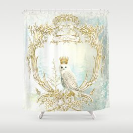 Owl Let it Snow Shower Curtain