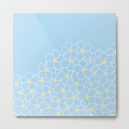 Forget Me Knot Blue Boarder Metal Print