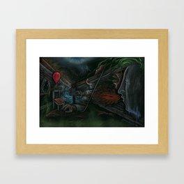 """HELP"", Painting By Landon Huber Framed Art Print"