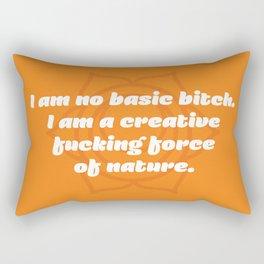 Creative fucking force of nature (Sacral Chakra Affirmation) Rectangular Pillow