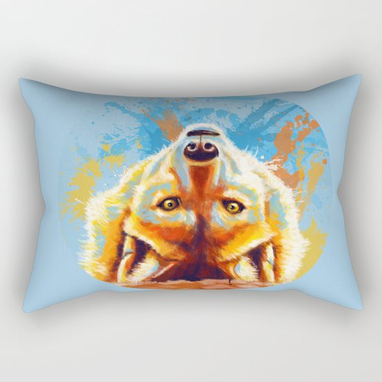Hey! - Wolf portrait Rectangular Pillow