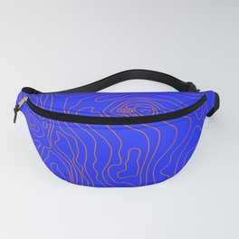 Typographic map Fanny Pack