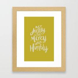 Act Love Walk x Mustard Framed Art Print