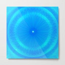Abstract Blue Aqua water Iris Metal Print