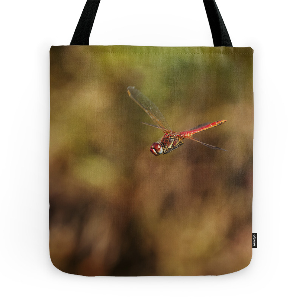 Red Dragonfly Flying Tote Purse by cesartorres (TBG9796888) photo
