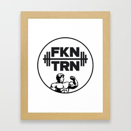 FKNTRN DARK Framed Art Print
