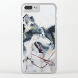 Huskies Clear iPhone Case