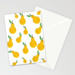 pear yellow Stationery Cards