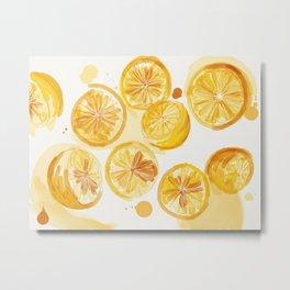 Lemons Make Lemonade Metal Print