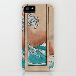 Crashing Wave in Five Frames iPhone Case