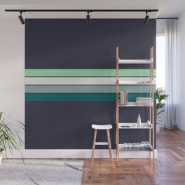 Bright Electric Stripes Wall Mural