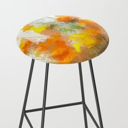 Sunrise Poppies Bar Stool