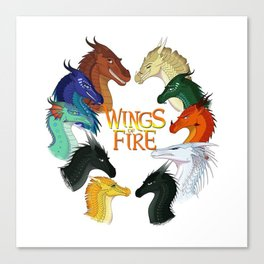 Love Wings of Fire Canvas Print