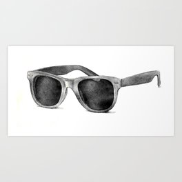 B&W Raybans - Drawing Art Print