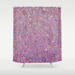 Happy Feather Mandala Shower Curtain