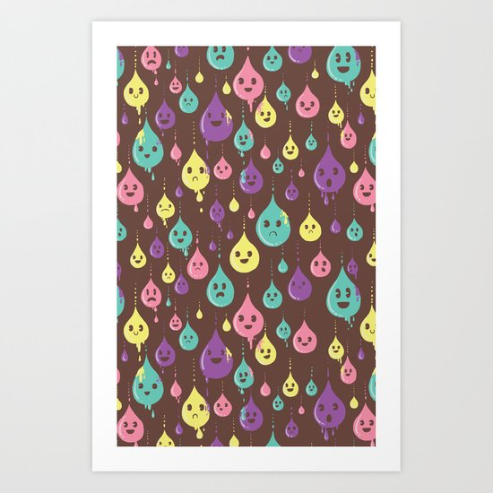 Drops and Drops Art Print