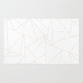 rose gold triangle pattern Rug
