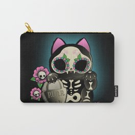 Lucky Cat De los Muertos Carry-All Pouch