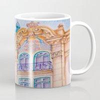art nouveau Mugs featuring art nouveau by Tereza Del Pilar