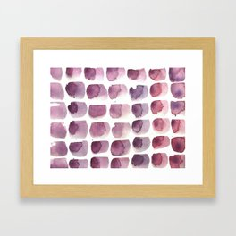 brushstrokes Framed Art Print