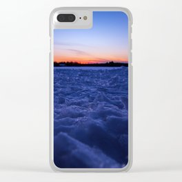 Winter Snowscape Clear iPhone Case