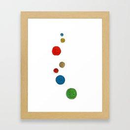 Buttons Buttons Framed Art Print