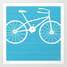 Blue Bike by Friztin Art Print