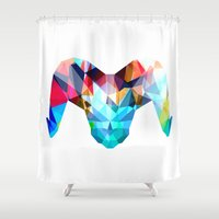 ram Shower Curtains featuring Ram by haroulita