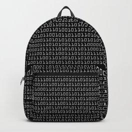 Gray-on-black Binary Code Pattern Backpack