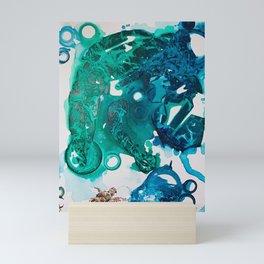 Turtle Exploring the Great Deep Blue Sea Mini Art Print