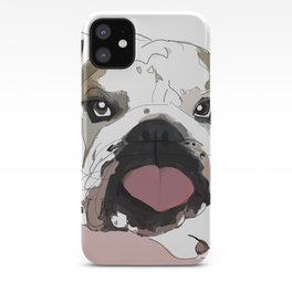 English Bulldog heart shaped tongue iPhone Case