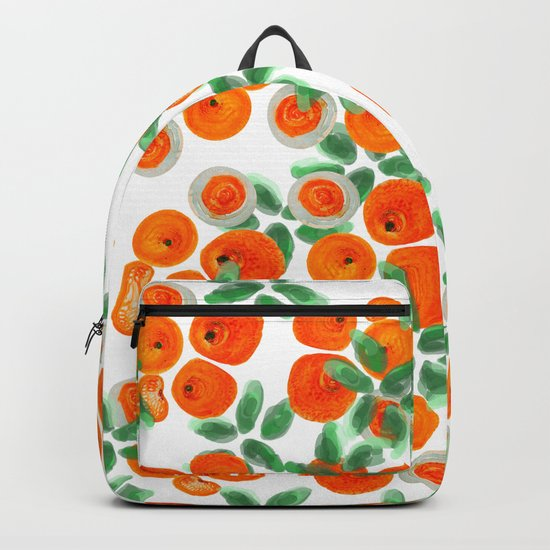 Fresh Orange Juice Pattern Backpack