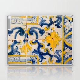 Portuguese azulejos, city of Ericeira Laptop & iPad Skin