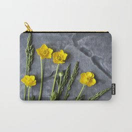 Hello Buttercup - Yellow Flower  Carry-All Pouch