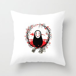 Evil Without Face Throw Pillow