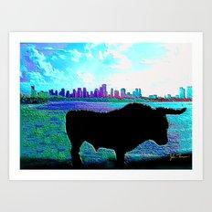 Bullish on Miami Art Print