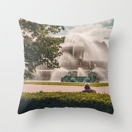 Fountain View 2 Throw Pillow