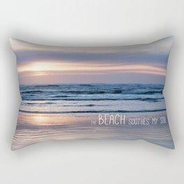 Beach Glow Soothes Soul Rectangular Pillow